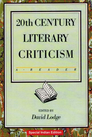 20th century literary criticism: a reader, ed. by David Lodge