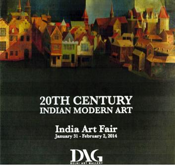 20th century Indian modern art: Indian Art Fair, January 31 - February 2, 2014